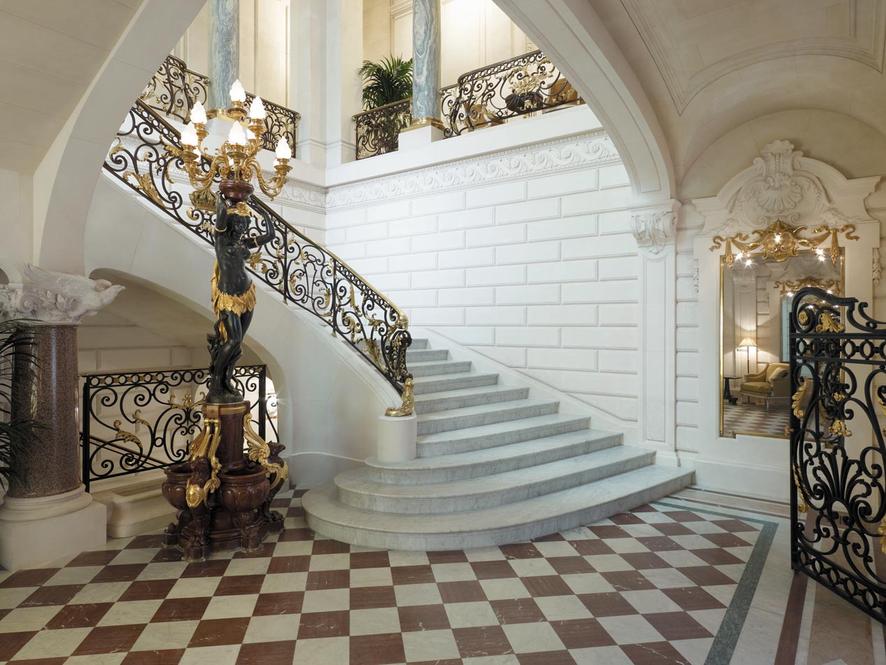 The Grand Staircase of the Hotel Shangi La - Former residence of Prince Bonaparte