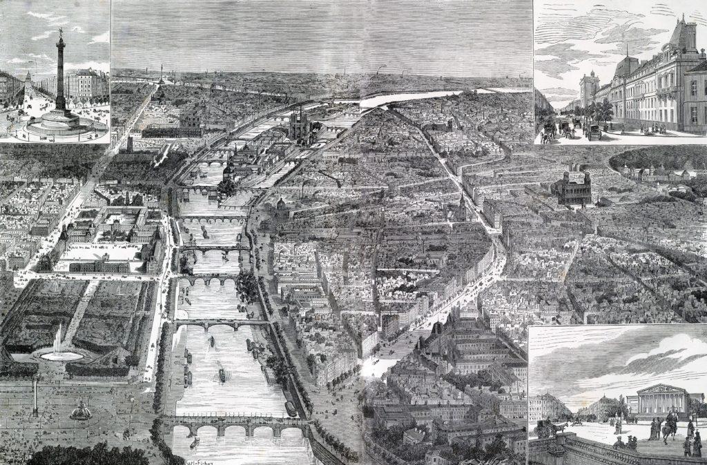 le_paris_de_lexposition-_le_nouveau_boulevard_saint-germain_dans_toute_son_etendue