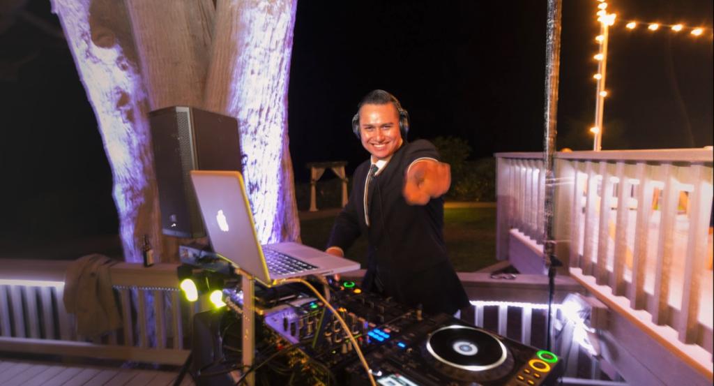DJ Juan at Martin Johnson House