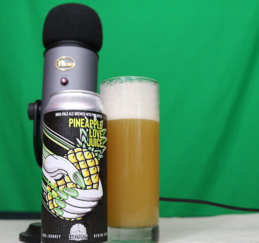 Pineapple Love juice drink of the week on Bois and bar talk