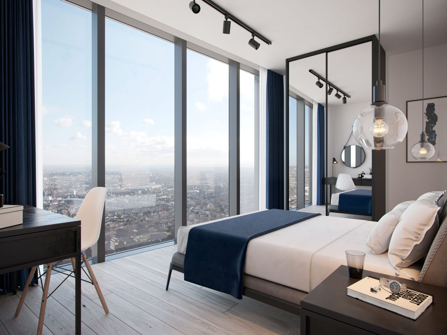City and Docklands One West Point Interior Bedroom View