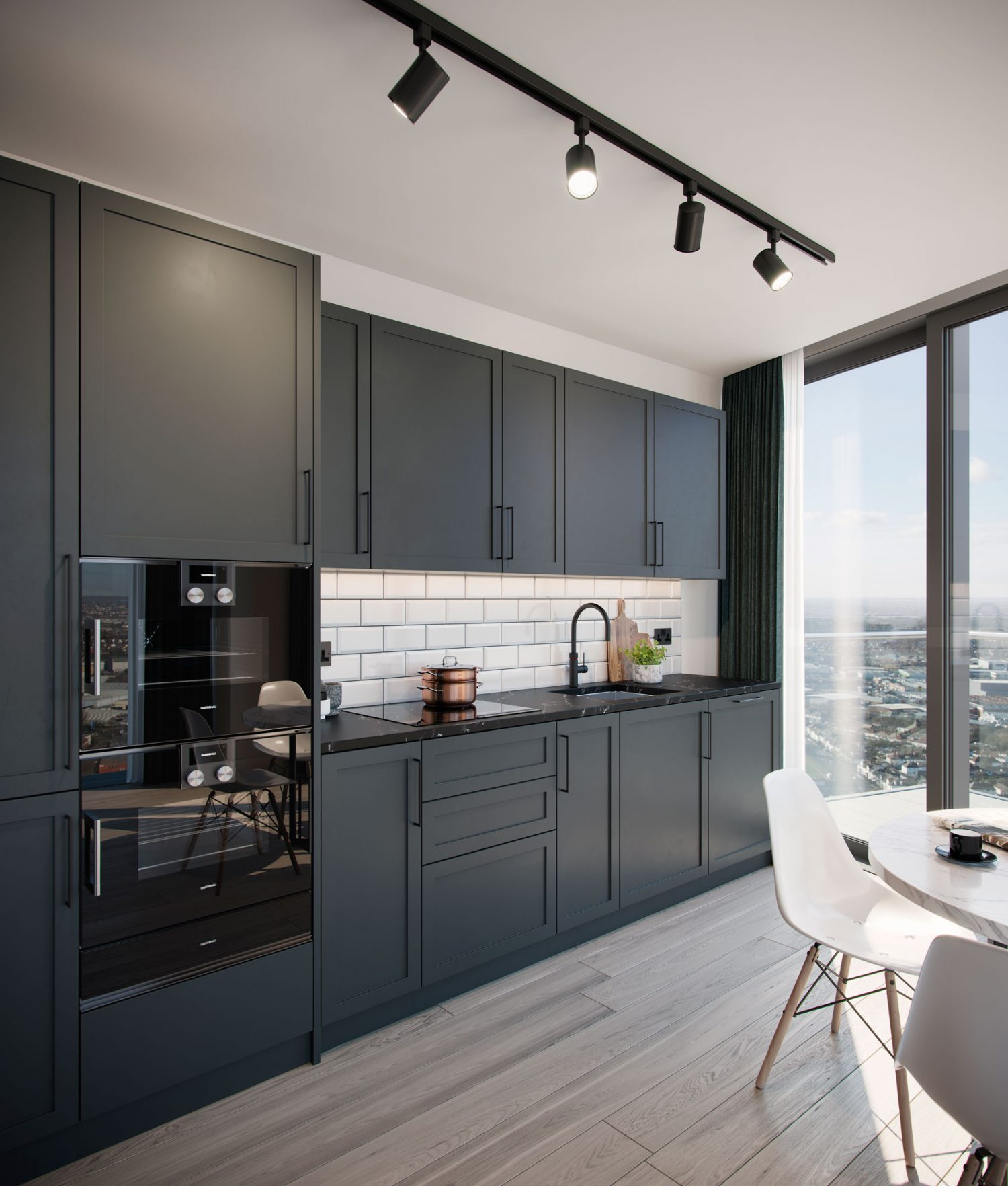 City and Docklands One West Point Interior Kitchen