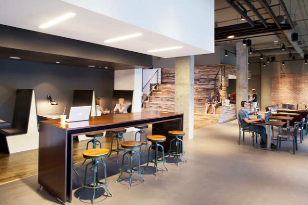 The interior of Acru was inviting and comfy—a great differentiator for its bank advertising.