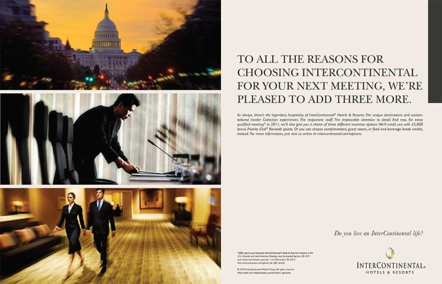 An example of IHG B to B advertising