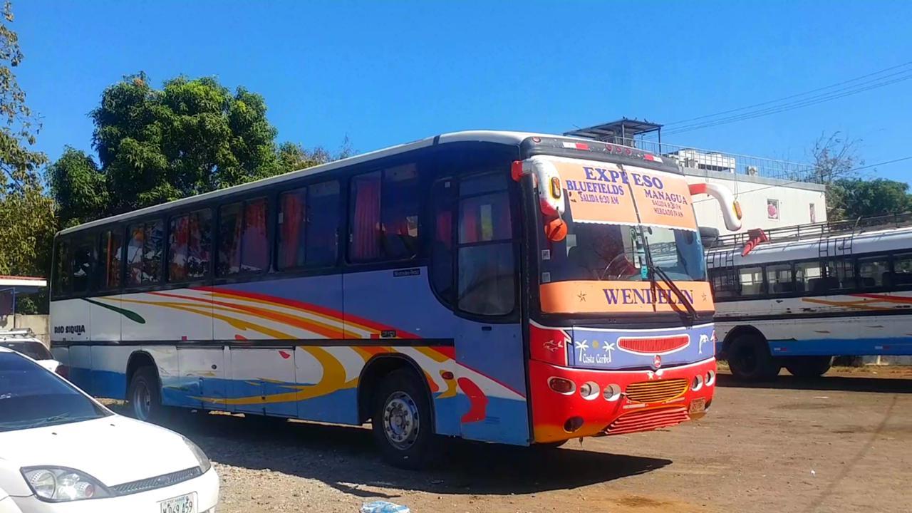 Horario de buses de Managua a Bluefields