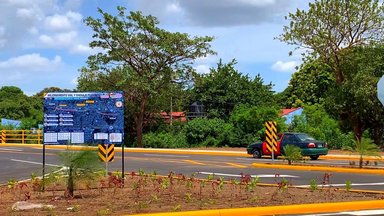 Nueva Pista Radial Batahola Sur y Calle 25 en Managua