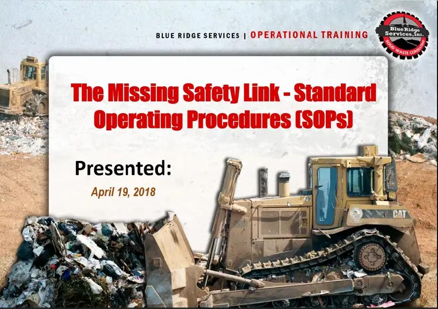 The Missing Safety Link – Standard Operating Procedures (SOPs)
