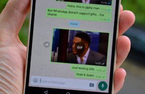 whatsapp supports gif