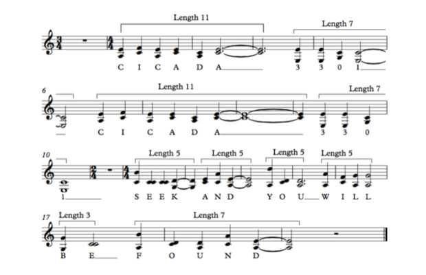 coded music in cicada 3301
