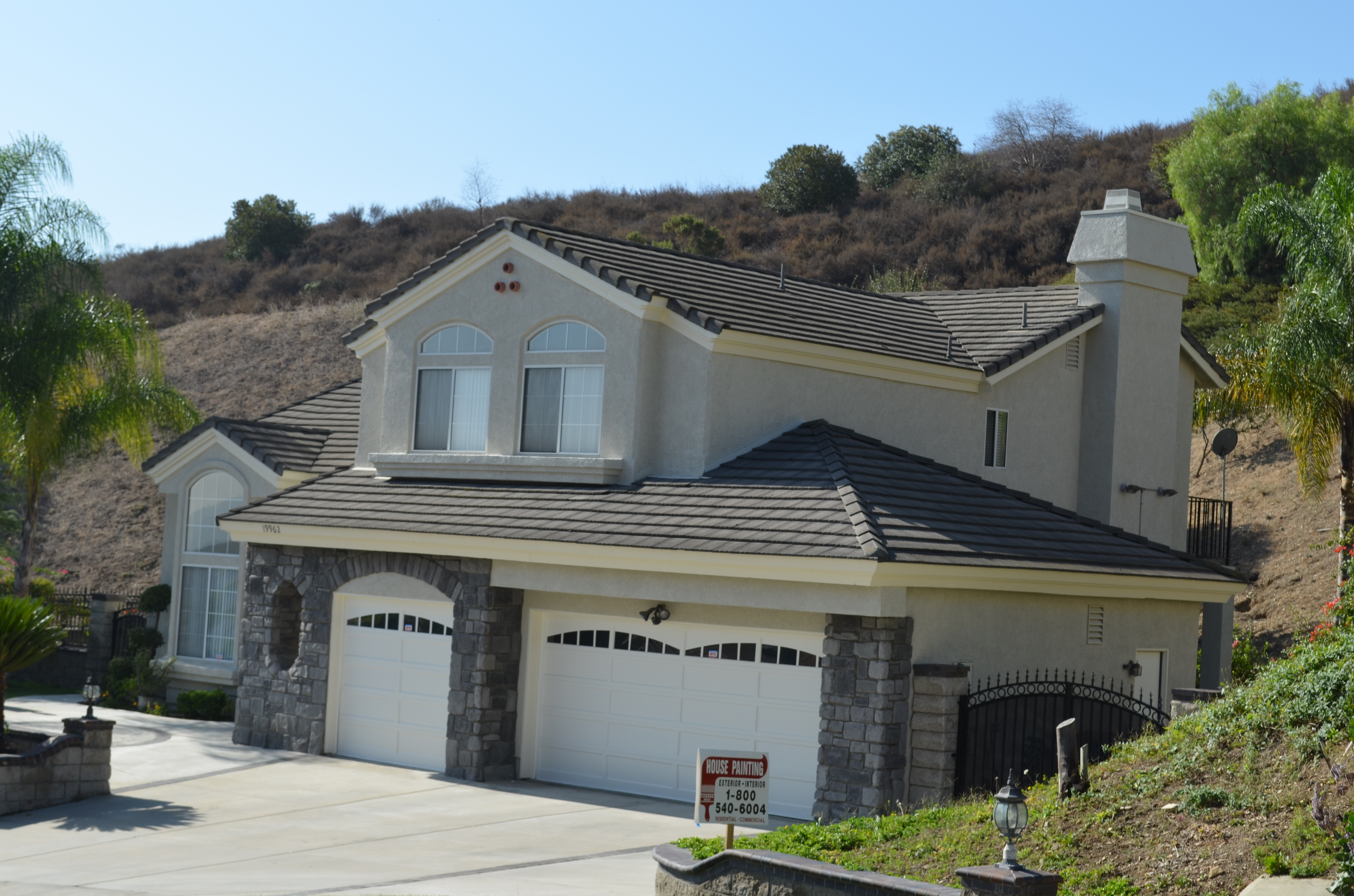 House painting Hollywood Hills