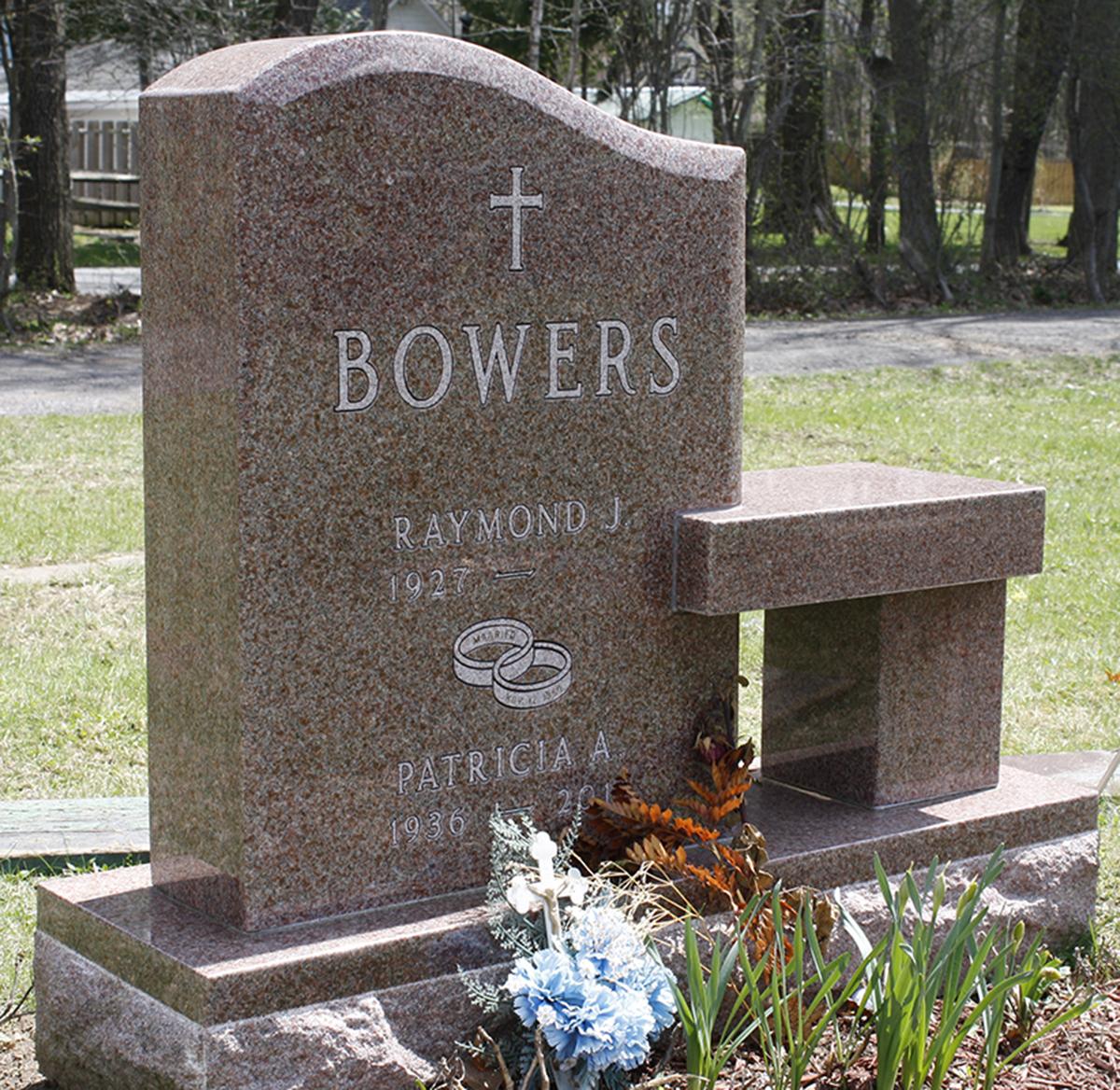 Bowers pink bench memorial.jpg