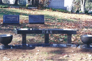 Hax black granite bench with vases.jpg