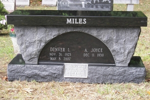 Miles-black-bench-with-VA-marker.JPG