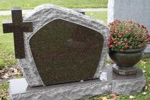 cats eye - cross - unique base - grave stone
