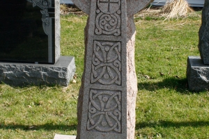 pink - celtic cross- upright - grave stone