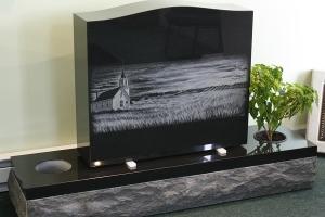 black - etched - vase - grave stone