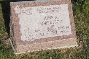 Robertson cemetery slant marker.JPG