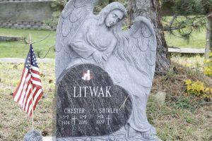 Litwak-Blue-Sculpted-Angel-Upright