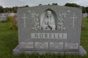 Norelli Gray Sculpted Upright Religious.jpg