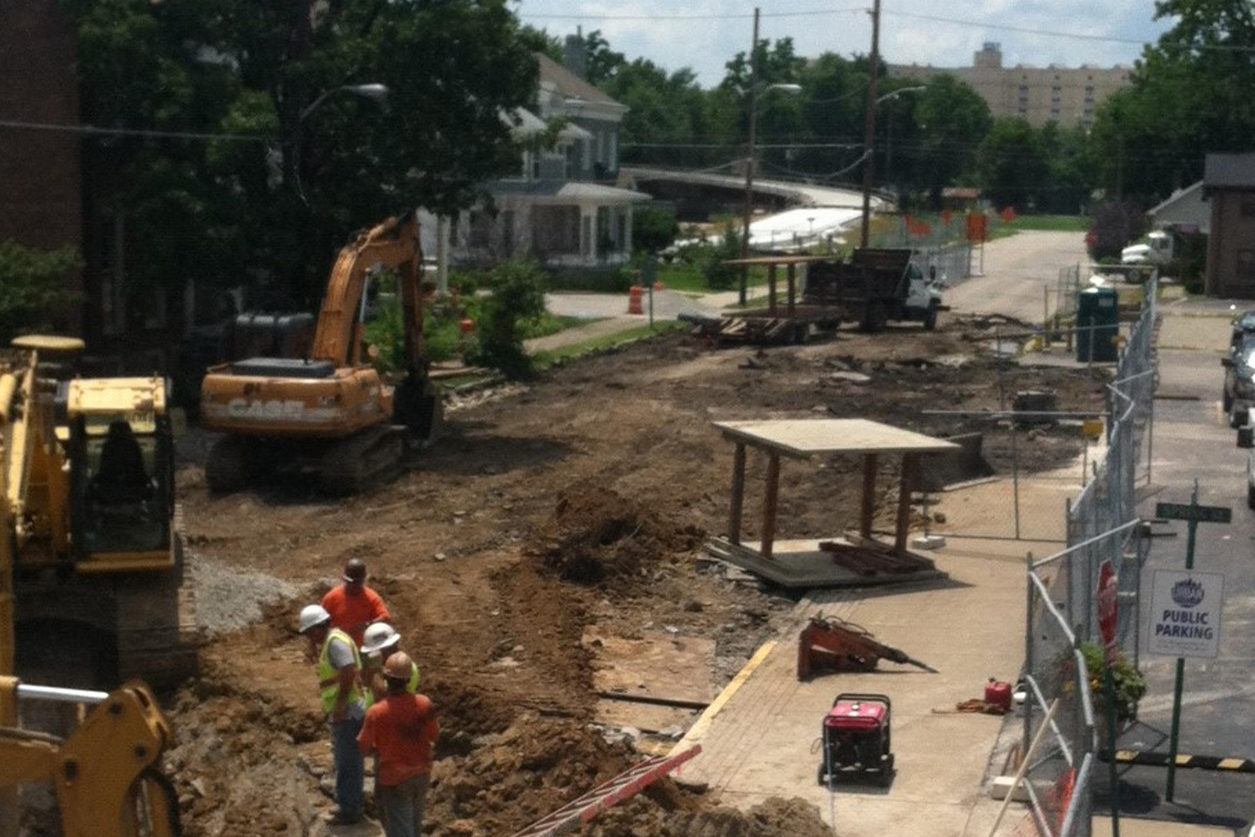 Chestnut Street Jeffersonville (during construction)