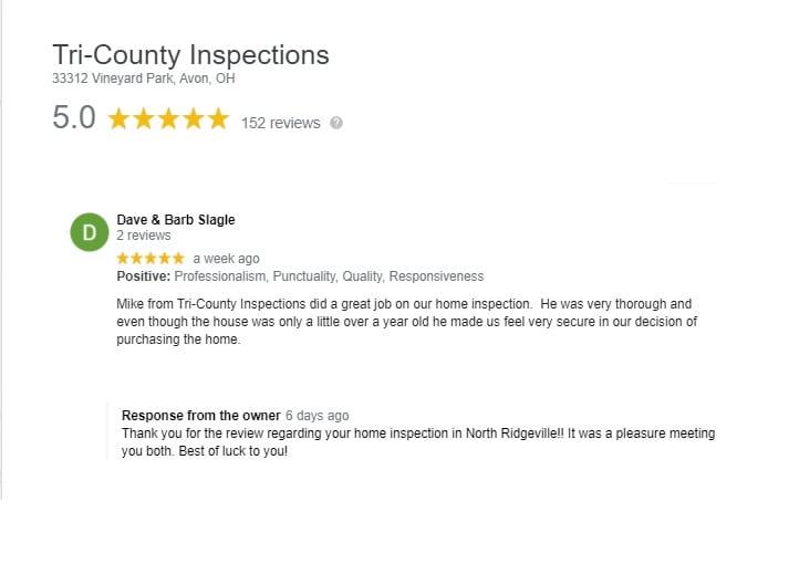 North Ridgeville Home Inspector