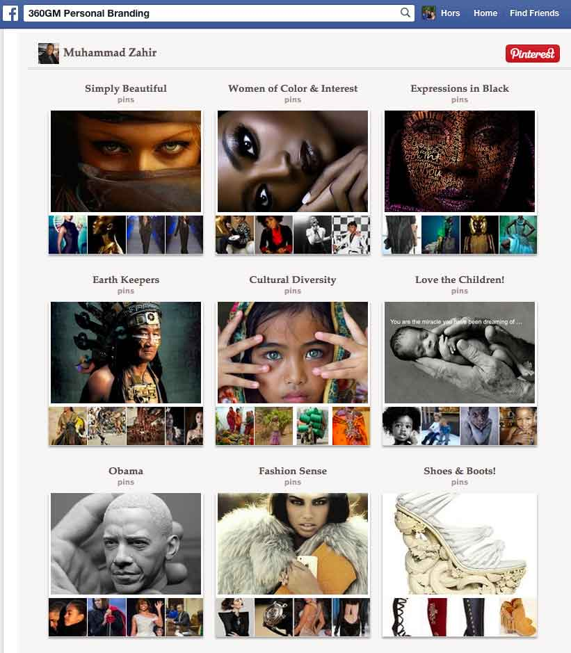 Pinterest Inside Facebook