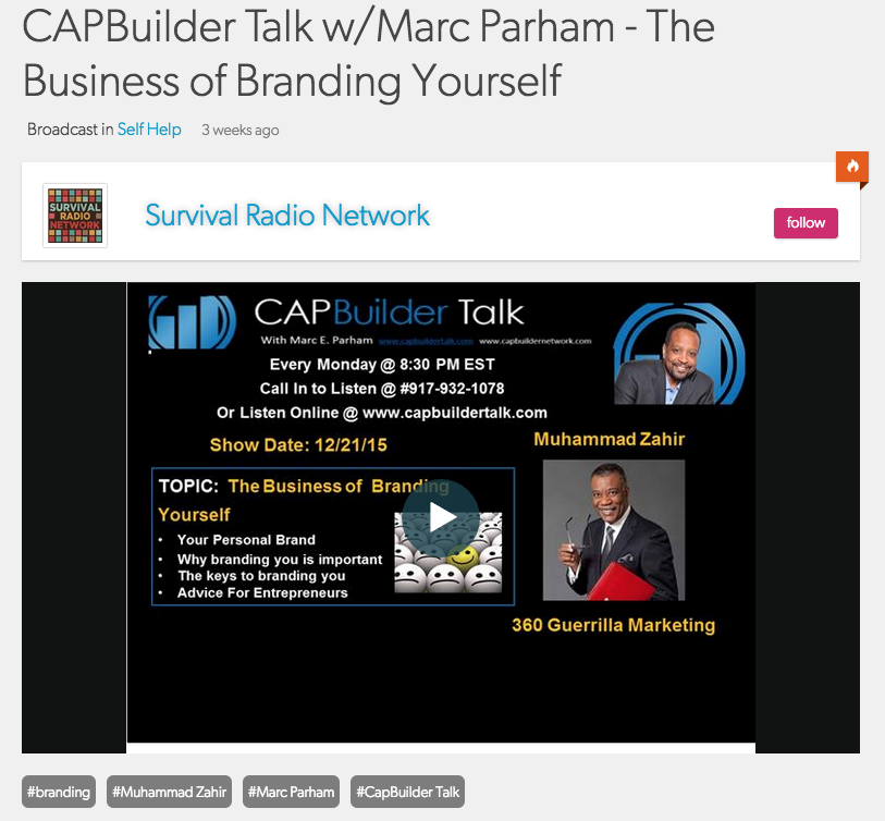 The Business of Branding You! Marc Parham and Muhammad Zahir