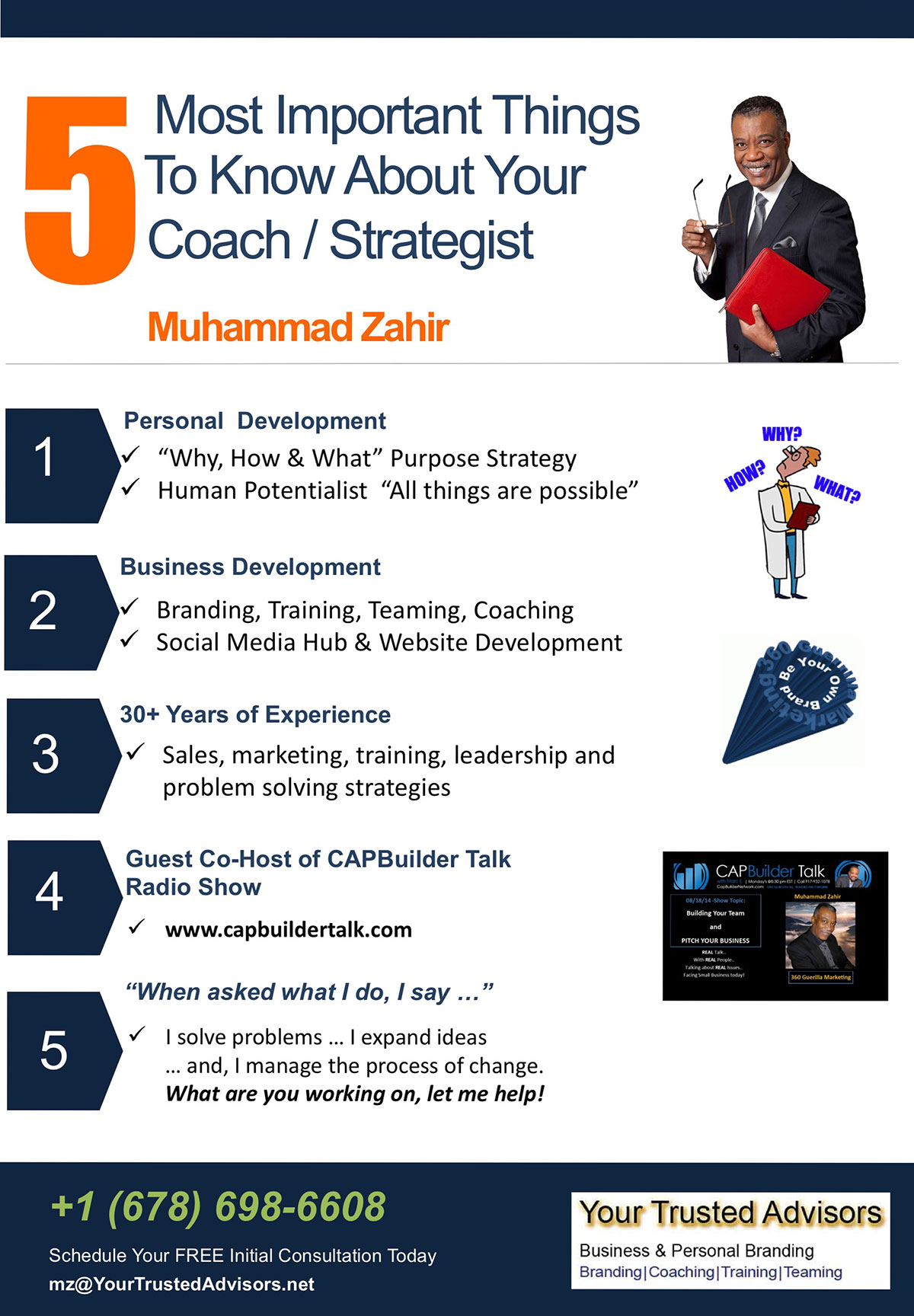 Muhammad Zahir Coach, Trainer, Strategist, Personal and Business Development