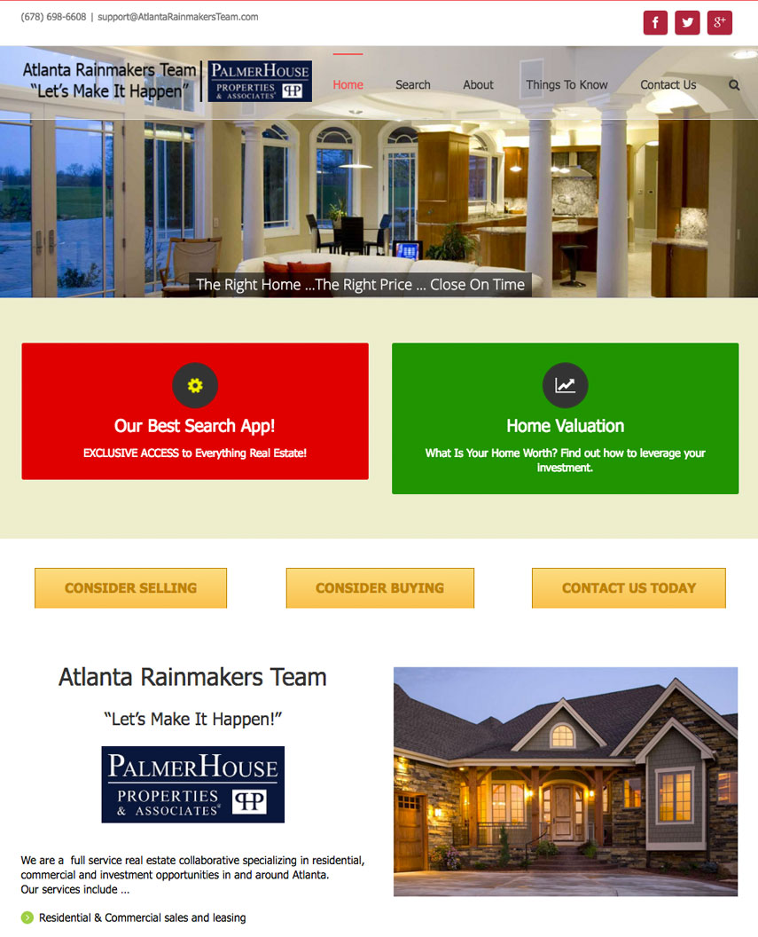 ATL Rainmakers website sample work
