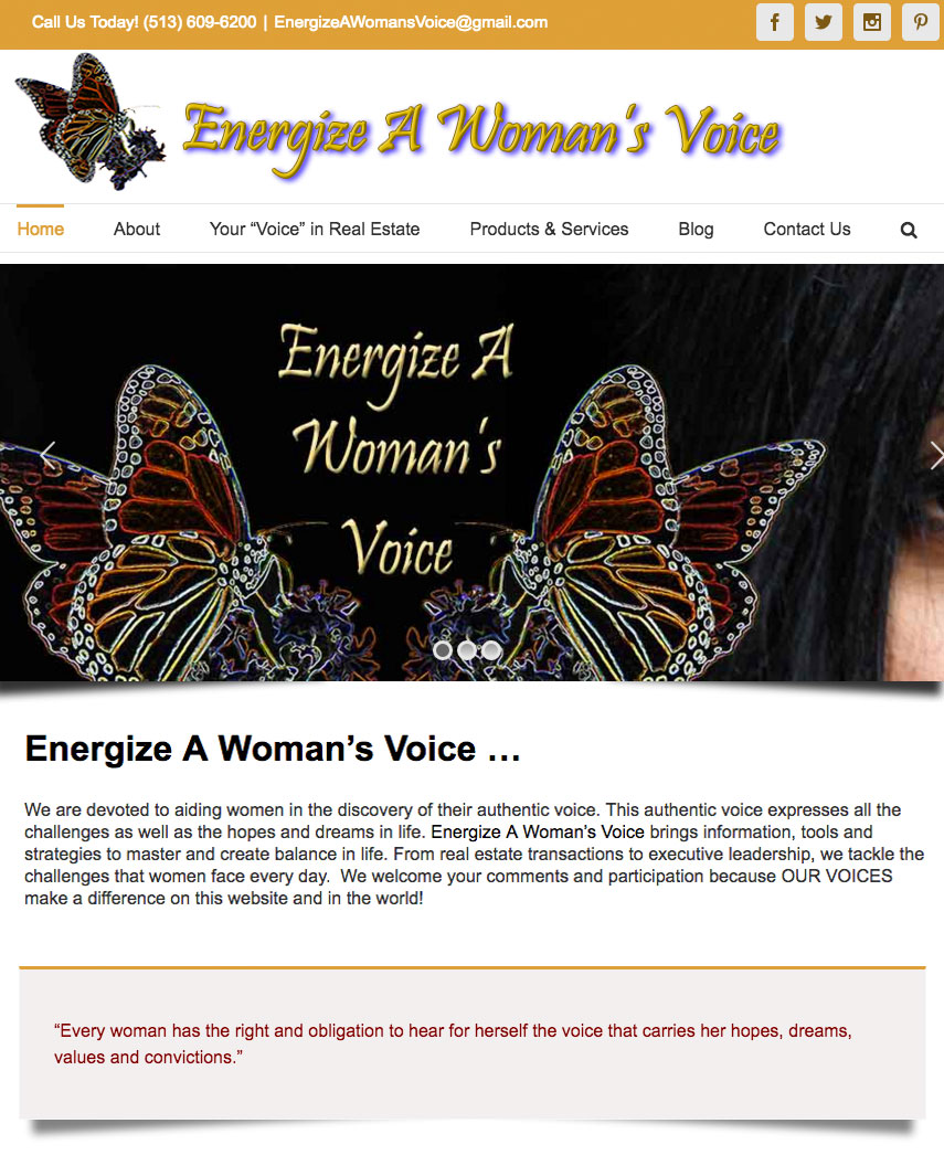 EAWV website sample work