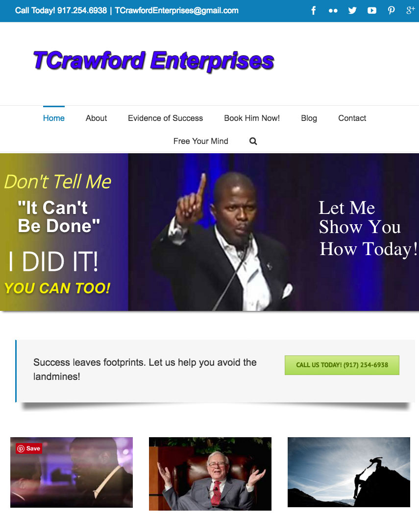 TCrawford website sample work