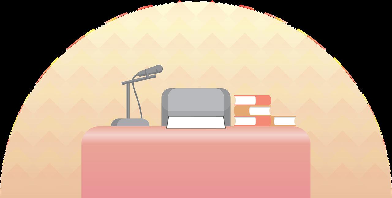 microphone on desk