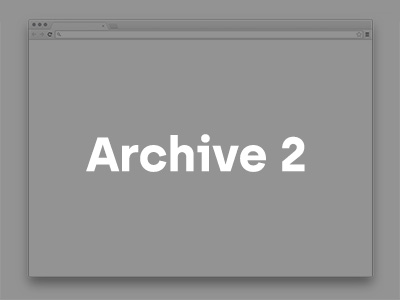 Archived Web 2