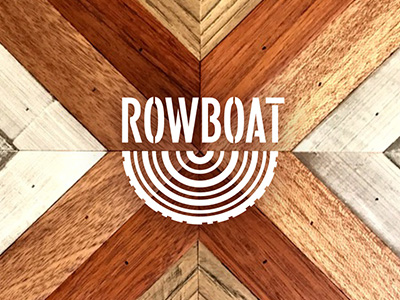 Rowboat Wood Logo