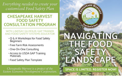 Chesapeake Harvest Announces Food Safety Workshops