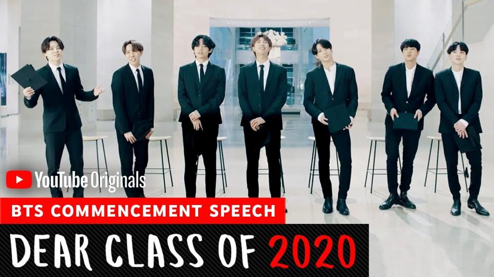 "BTS ร่วมในโครงการ ""Dear Class of 2020"" ข่าวน่ารู้ อัพเดทสถานการณ์ เรื่องเล่า สาระความรู้ คู่ความบันเทิง"