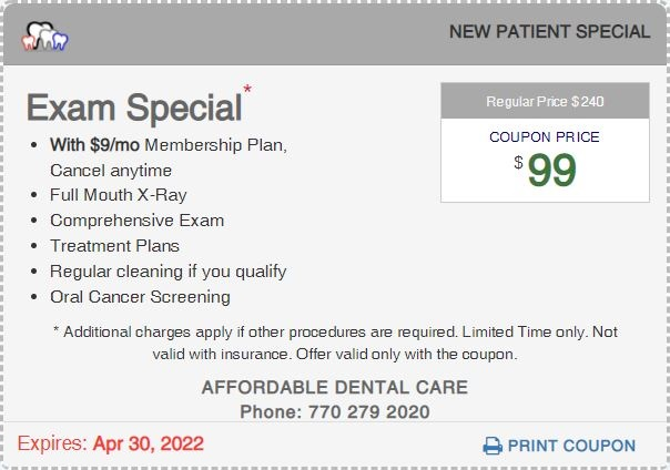 Affordable Exam Special Coupon, Lilburn, GA 30047