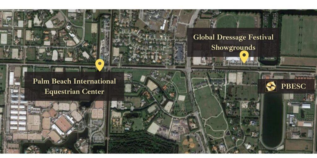 Palm Beach Equine Sports Complex showgrounds map wef gdf winter equestrian festival global dressage