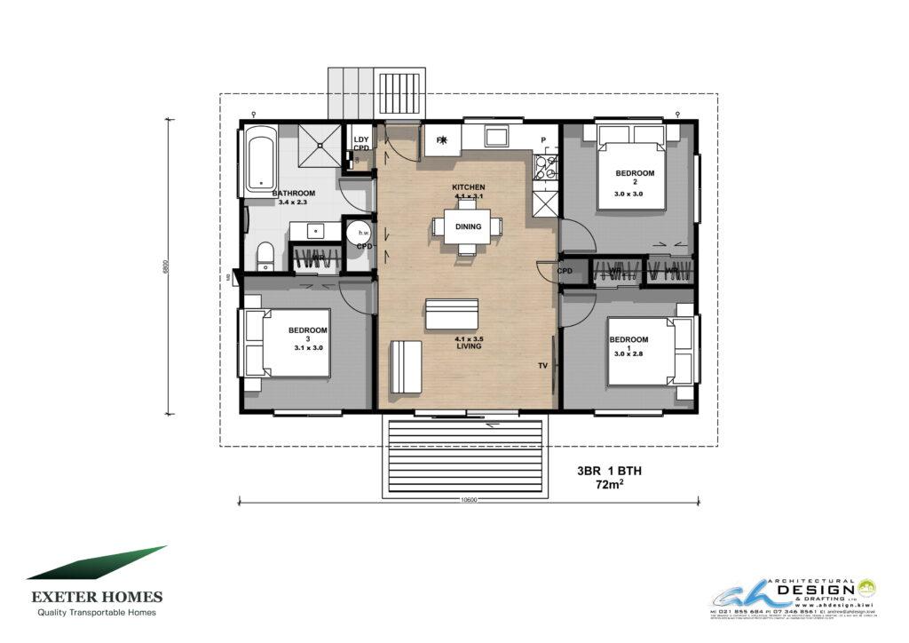 3 bedroom relocatable home