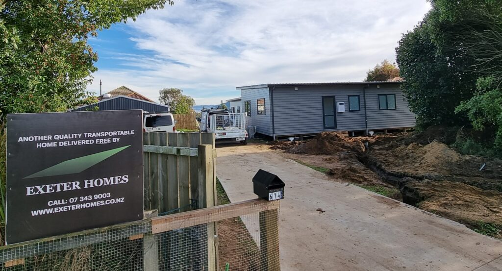 New transportable home after delivery in New Zealand