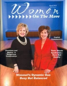 St. Louis Women On The Move Missouri's Dynamic Duo Busy But Balanced magazine cover