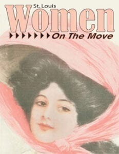 St. Louis Women On The Move magazine cover featuring an illustration of a lady with a hat