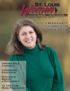 St. Louis Women On The Move Lucy Marshall is Going for the Green magazine cover