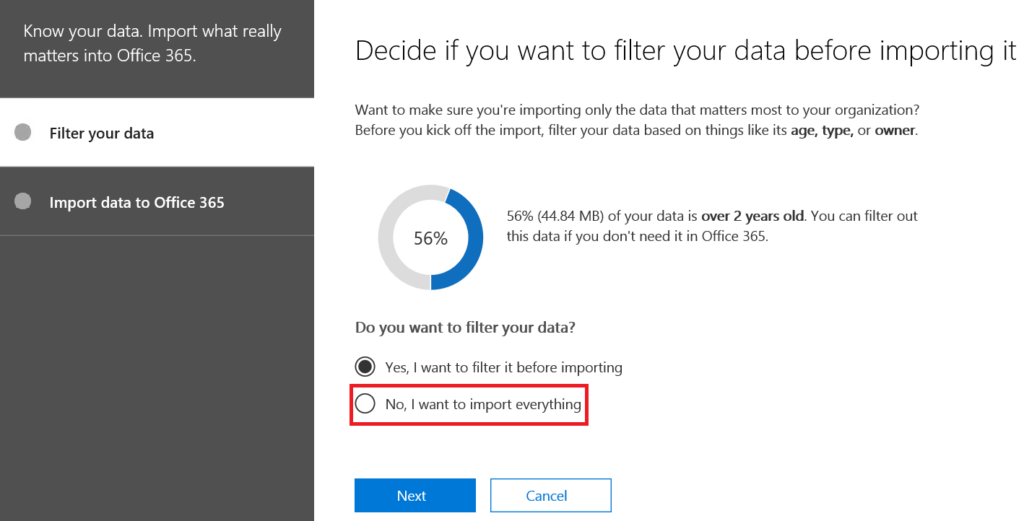 PST to office 365 mailbox