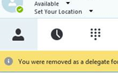 Skype for business delegate
