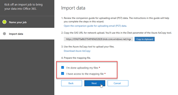 move PST to Office 365
