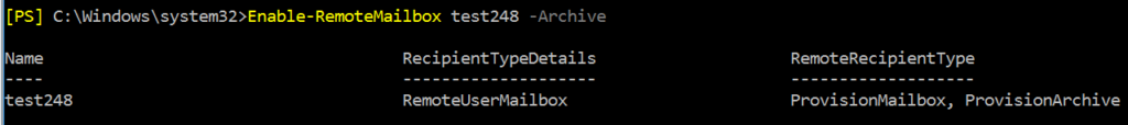 office 365 archive mailbox