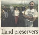 <p>Front page of Tri-City Herald 10.5.03. Citizens on Badger Mt publicize their vision for preser- ving open spaces and ridges for public access</p>