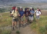 <p>Hiking the mountain with packs to prepare for Cascade ascents</p>