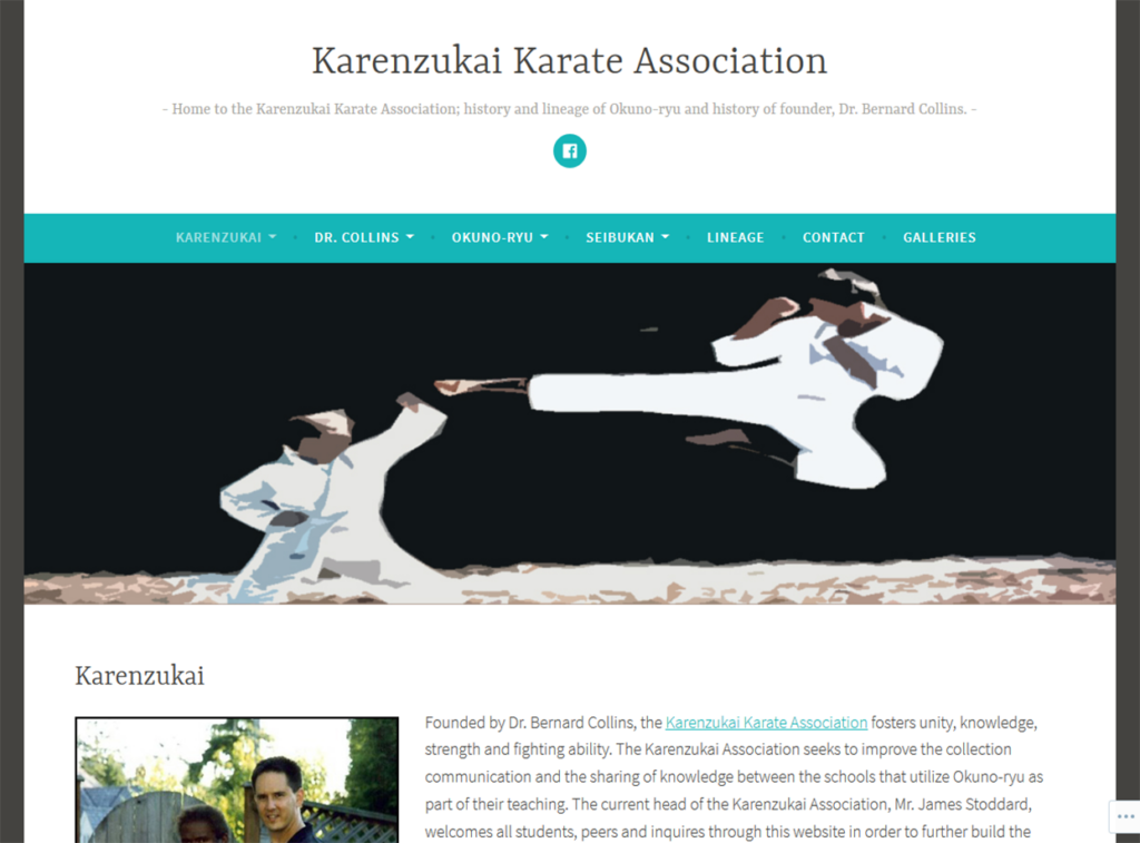 Karenzukai Karate Association Portfolio Project James Wieland Front End Dev